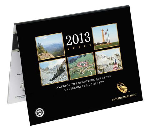 America the Beautiful Quarters 2013 Uncirculated Coin Set,  image 2