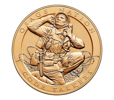 Osage Nation Tribe Code Talkers Bronze Medal 1.5 Inch