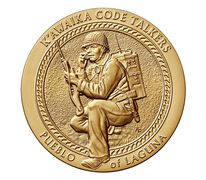 Pueblo of Laguna Tribe Code Talkers Bronze Medal 3 Inch