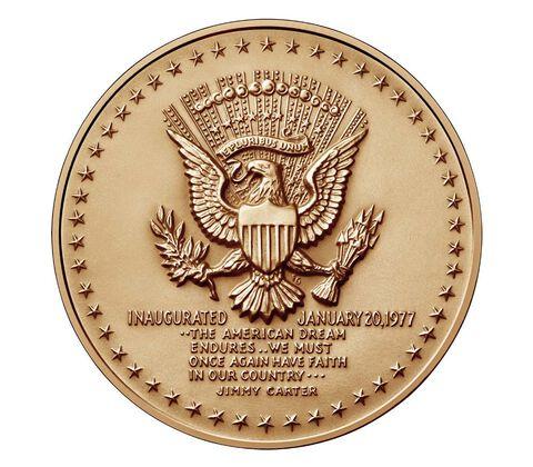 Jimmy Carter Bronze Medal 1 5/16 Inch,  image 2