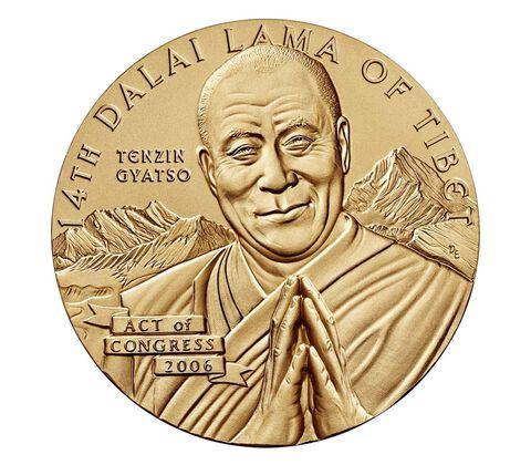 Dalai Lama Bronze Medal 3 Inch