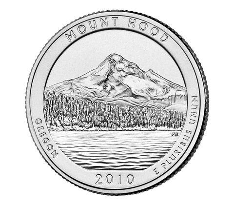 Mount Hood National Forest 2010 Quarter, 3-Coin Set,  image 3