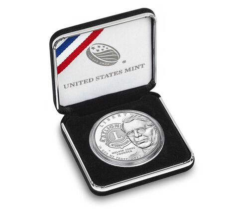 Lions Clubs International 2017 Centennial Proof Silver Dollar,  image 4