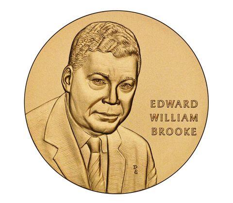 Senator Edward William Brooke III Bronze Medal 1.5 Inch