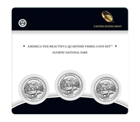 Olympic National Park 2011 Quarter, 3-Coin Set