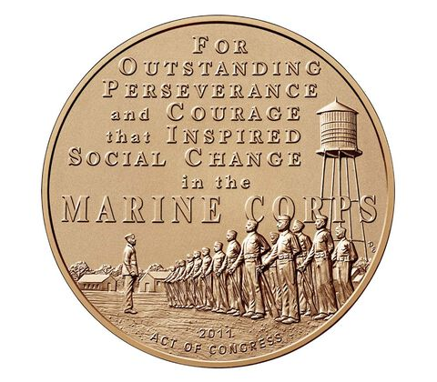 Montford Point Marines Bronze Medal 1.5 Inch,  image 2