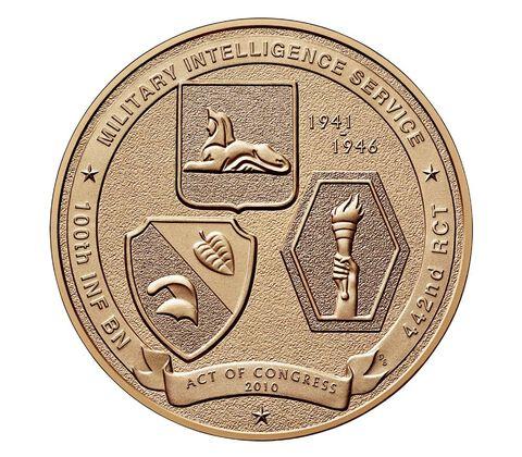 Nisei Soldiers of World War II Bronze Medal 1.5 Inch,  image 2