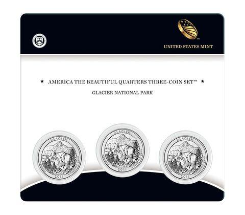 Glacier National Park 2011 Quarter, 3-Coin Set