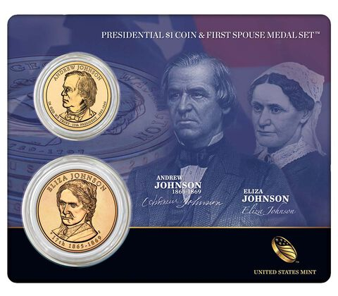 Andrew Johnson 2011 Presidential $1 Coin & First Spouse Medal Set