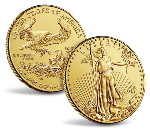 American Eagle 2017 One Ounce Gold Uncirculated Coin,  image 3