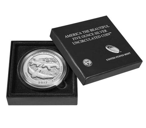 Effigy Mounds National Monument 2017 Uncirculated Five Ounce Silver Coin,  image 4