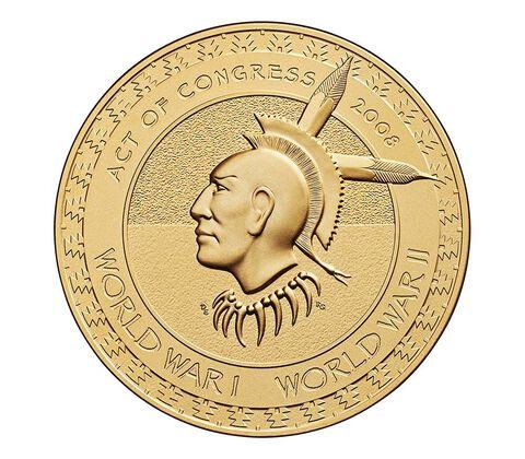 Meskwaki Nation Code Talkers Bronze Medal 1.5 Inch,  image 2