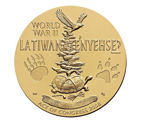 Oneida Nation Code Talkers Bronze Medal 1.5 Inch,  image 2