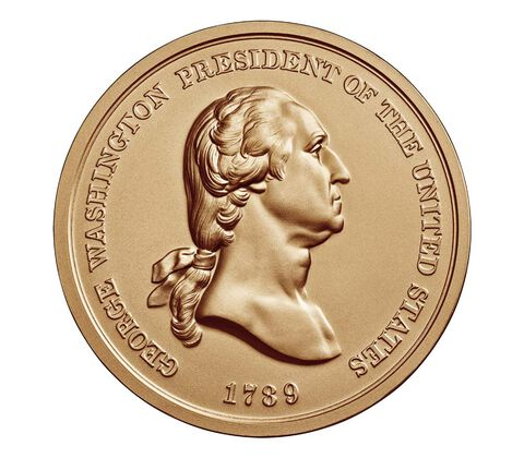 George Washington Bronze Medal 1 5/16 Inch