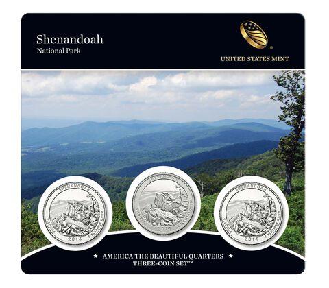 Shenandoah National Park 2014 Quarter, 3-Coin Set