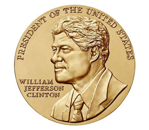 William J. Clinton (First Term) Bronze Medal 3 Inch