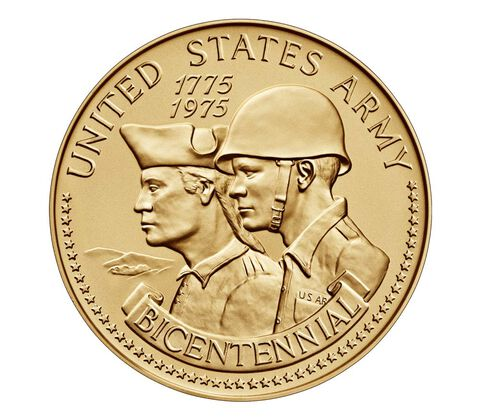 United States Army Bicentennial Bronze Medal 3 Inch