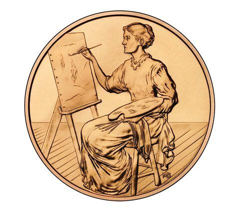 Lucretia Garfield 2011 Bronze Medal 1 5/16 Inch,  image 2