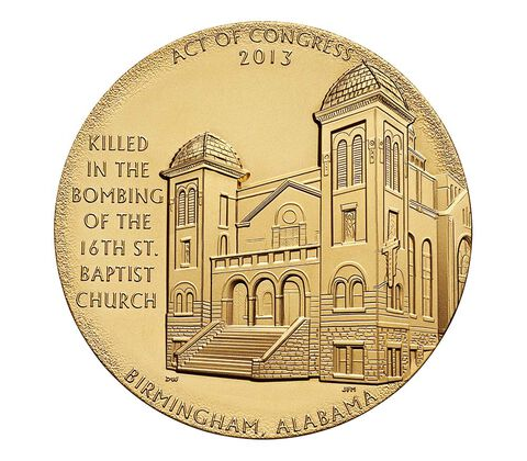 16th Street Baptist Church Bombing Victims Bronze Medal 1.5 Inch,  image 2