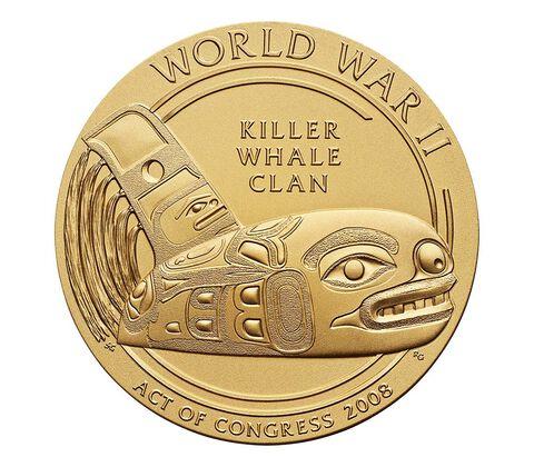 Tlingit Tribe Code Talkers Bronze Medal 3 Inch,  image 2
