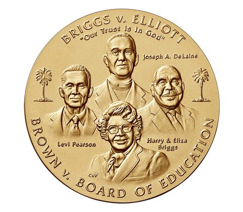 Brown vs. Board of Education Bronze Medal 3 Inch