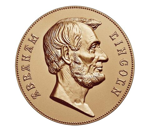 Abraham Lincoln Bronze Medal 1 5/16 Inch