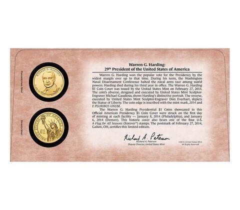 Warren G. Harding 2014 One Dollar Coin Cover,  image 2