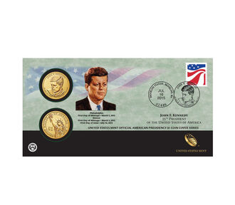 John F. Kennedy 2015 One Dollar Coin Cover