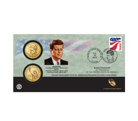 John F. Kennedy 2015 One Dollar Coin Cover