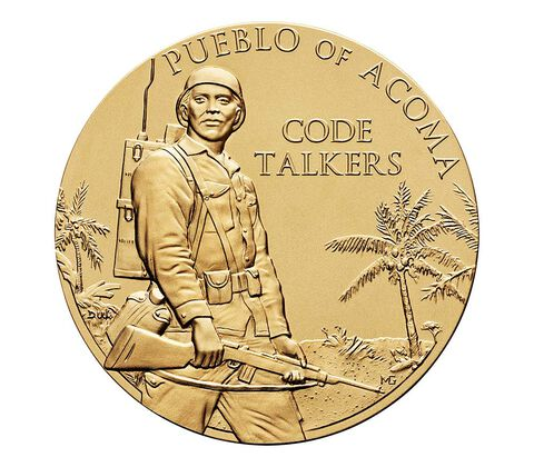 Pueblo of Acoma Tribe Code Talkers Bronze Medal 1.5 Inch