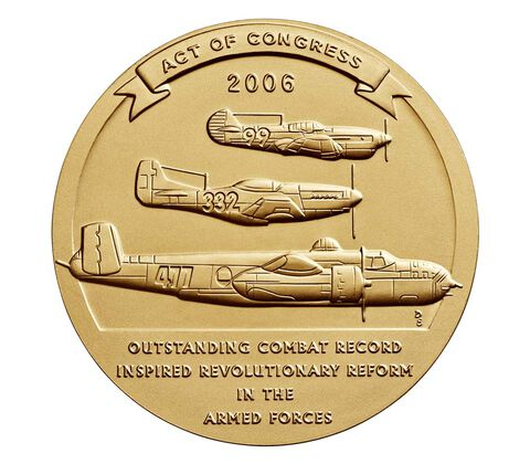Tuskegee Airmen Bronze Medal 3 Inch,  image 2