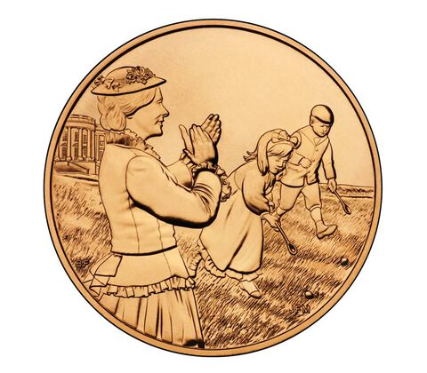 Lucy Hayes 2011 Bronze Medal 1 5/16 Inch,  image 2