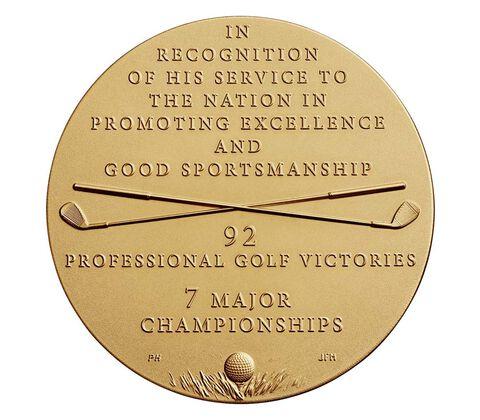 Arnold Palmer Bronze Medal 1.5 Inch,  image 2