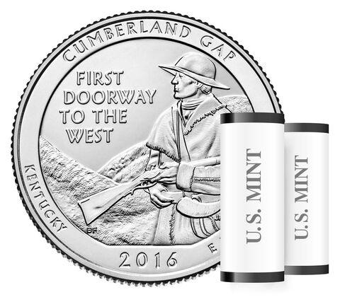 Cumberland Gap National Historical Park 2016 Quarter Rolls and Bags