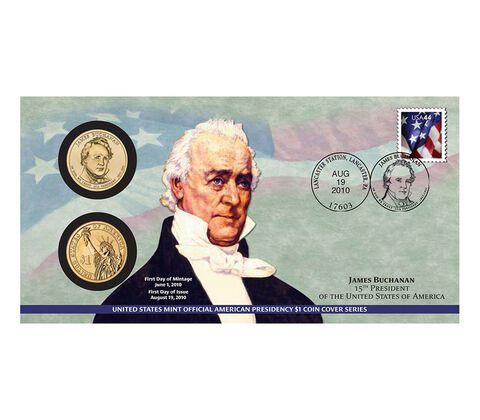 James Buchanan 2010 One Dollar Coin Cover