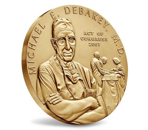 Dr. Michael E. DeBakey, M.D. Bronze Medal 3 Inch,  image 3