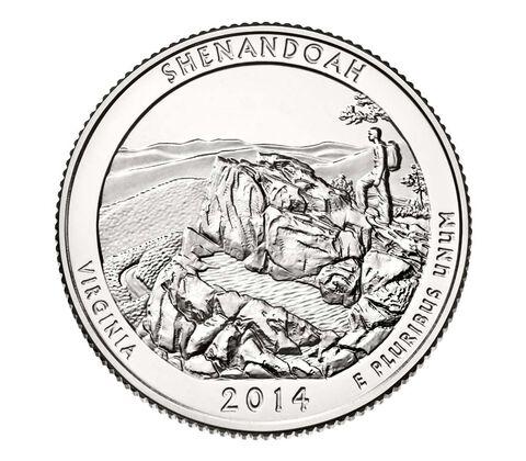 Shenandoah National Park 2014 Quarter, 3-Coin Set,  image 4