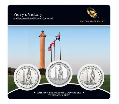 Perry%27s Victory and International Peace Memorial 2013 Quarter, 3-Coin Set,  image 1