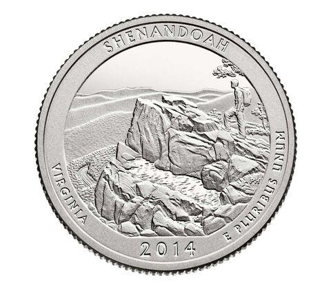 Shenandoah National Park 2014 Quarter, 3-Coin Set,  image 3