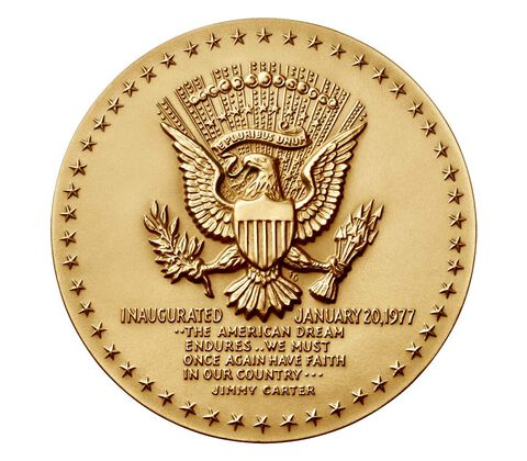 Jimmy Carter Bronze Medal 3 Inch,  image 2