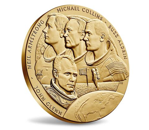 New Frontier Bronze Medal 3 Inch,  image 3