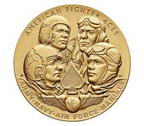 American Fighter Aces Bronze Medal 3 Inch