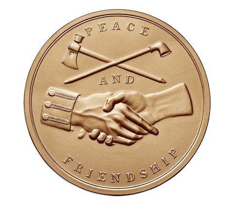 George Washington Bronze Medal 1 5/16 Inch,  image 2