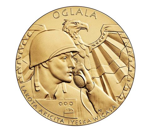 Oglala Sioux Tribe Code Talkers Bronze Medal 3 Inch