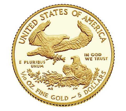 American Eagle 2017 One-Tenth Ounce Gold Proof Coin,  image 2