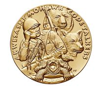 St. Regis Mohawk Tribe Code Talkers Bronze Medal 3 Inch