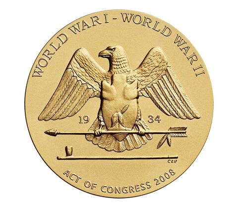 Santee Sioux Code Talkers Bronze Medal 3 Inch,  image 2