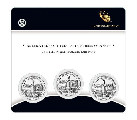 Gettysburg National Military Park 2011 Quarter, 3-Coin Set