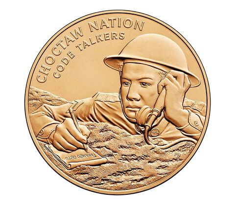 Choctaw Nation Tribe Code Talkers Bronze Medal 1.5 Inch