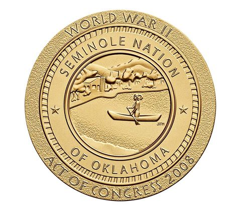 Seminole Nation Code Talkers Bronze Medal 3 Inch,  image 2